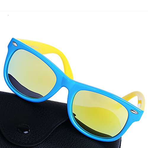 Toddler Sunglasses TPEE Rubber Flexible Girls and Boys Polarized Sports Wayfarer Sunglasses Age 3-10,UV Protection