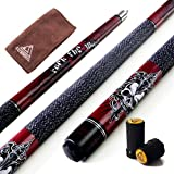 CUESOUL ROCKIN Series 57' 21oz Maple Pool Cue Stick Set with Joint Protector/Shaft Protector and Cue Towel(G408)