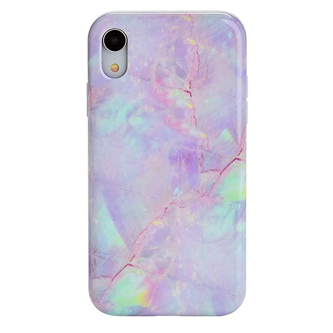 uk availability bdf2d 039d0 Pink Marble iPhone XR Case - Premium Protective Cover - Cute Phone Cases  for Girls & Women [Drop Test Certified]