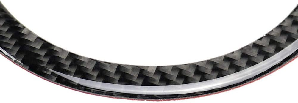 GreceYou Carbon Fiber Steering Wheel Ring Trim Fit for Mini Cooper R55 R56 R60 2007-2013