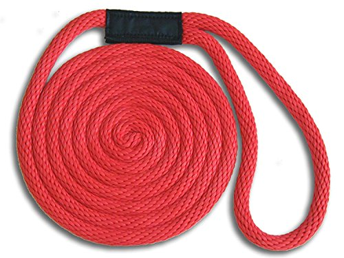 - MadDogProducts Double Braid Nylon Dock Line - Red, 5/8