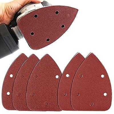 Coceca 50PCS (35PCS 120Grits & 15PCS 240Grits?Mouse Detail Sander Sandpaper Sanding Paper