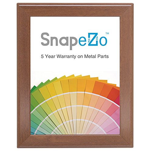 SnapeZo Diploma Frame 8.5x11 Inches, Dark Wood Effect 1.25