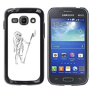 """For Samsung Galaxy Ace 3 Case , Muchacha de Hawaii Vestimenta Lanza Beach Art Dibujo"""" - Diseño Patrón Teléfono Caso Cubierta Case Bumper Duro Protección Case Cover Funda"""