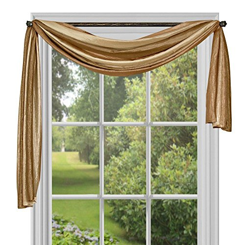 Swags Treatments Window (Achim Home Furnishings Ombre h Scarf, 50-Inch by 144-Inch, Sandstone)