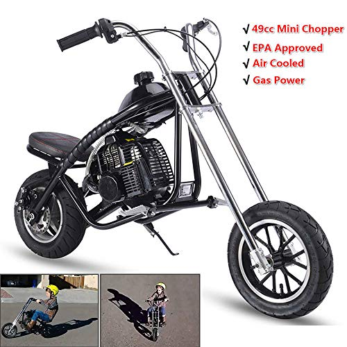 SAY YEAH Gas Mini Chopper 49cc 2-Stroke Dirt Bike EPA Certification Air Cooled for Kids Scooter (49cc Chopper)