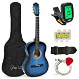 Best Choice Products 38in Beginner Acoustic Guitar Bundle Kit w/Case, Strap, Tuner, Pick,...