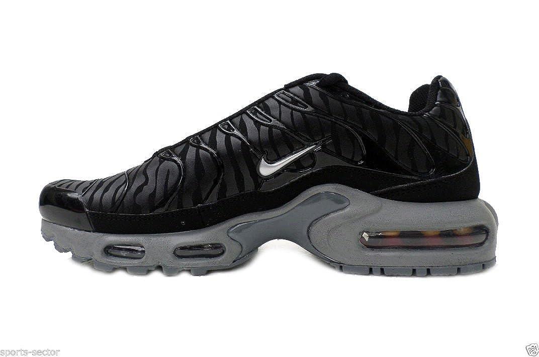 Nike Air Max Plus Tuned TN Camuflaje Cebra Zapatillas Negras Hombre Talla UK 7.5: Amazon.es: Zapatos y complementos