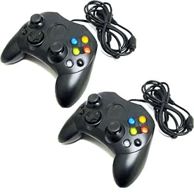 Amazon.com: Two Black Xbox Controllers for use with