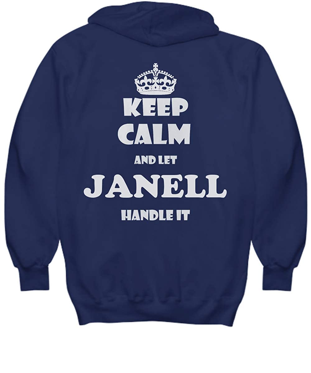 2 Sides Keep Calm and LET Janell Handle IT with Default Size 2XL White