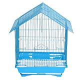YML A1314MBLU House Top Style Small Parakeet Cage, 13.3Lx10.8Wx17.8H-Inch