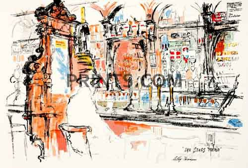 LeRoy Neiman - Dublin Bar Open Edition Serigraph on Paper