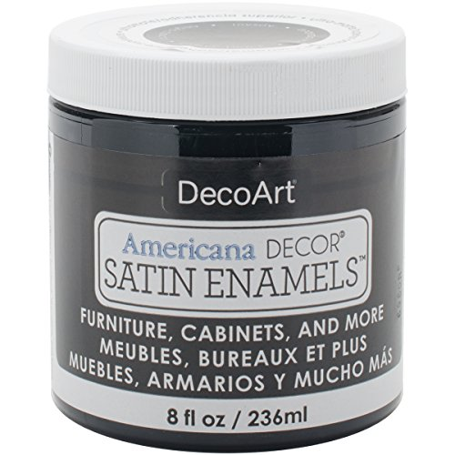 Grey Satin Enamel - Americana Decor Satin Enamels 8oz-classic Black