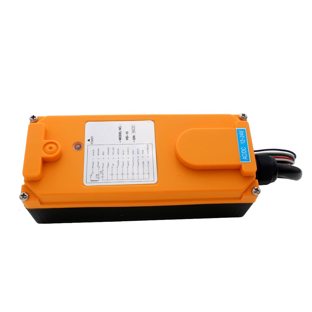 TOPCHANCES Industrial Wireless Universal Radio Remote Control for Overhead Crane AC//DC 1 Transmitter and 1 Receiver