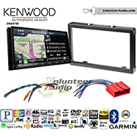 Volunteer Audio Kenwood DNX874S Double Din Radio Install Kit with GPS Navigation Apple CarPlay Android Auto Fits 2001-2006 Mazda Tribute