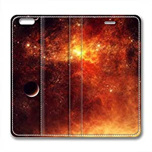 Galaxy Personalized Design Iphone 6 Leather Case Burning Planet