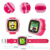 New Sign Kids Smart Game Watch with Camera Touch Screen Digital Wrist Watch Smartwatch for Girls Kids Electronic Learning Toys(Pink)