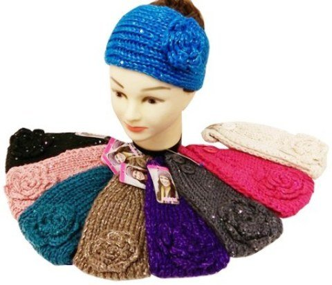 [dolly2u Sequined Knitted Ear / Headbands Case Pack 24] (Ethnic Dance Costume)