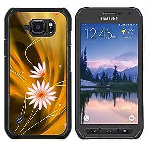 Qstar Arte & diseño plástico duro Fundas Cover Cubre Hard Case Cover para Samsung Galaxy S6Active Active G890A (Modelo de flores)