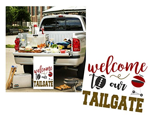 Silly Goose Gifts Football Themed Party Decoration Kit Set Bundle (Tailgate Decor Poster) ()