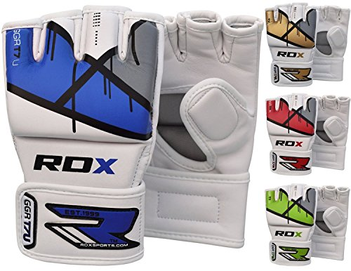 RDX MMA Gloves Grappling Martial Arts Punching Bag Maya Hide Leather Mitts Sparring Cage Fighting Combat Training from RDX