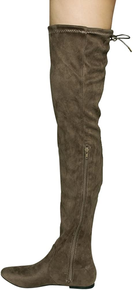 Nature Breeze Womens Stretchy Thigh High Boot