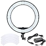 Neewer 18 inches 55W LED Ring Light - Dimmable Bi-color Lighting Kit with LCD Display and White Filter, 252 LED Beads, 3200-5600K, CRI 95+ for Camera Photo Studio YouTube Video Photography