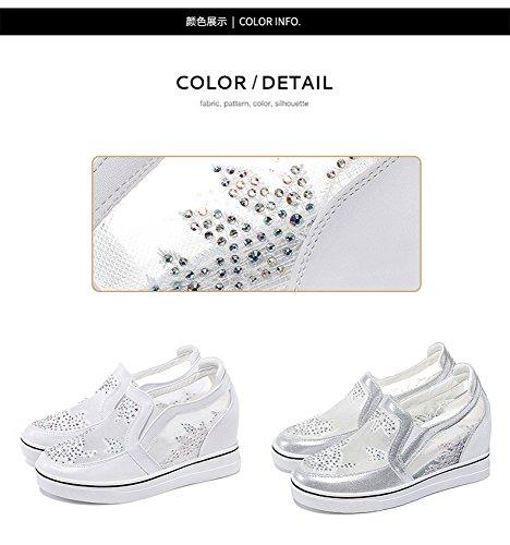 Mujer Cu Delgadas Zapatos De Mujer Los Sbl En Verano As Para plata Verstiles Aumento Sueltos Casuales 36 Y FwzqI