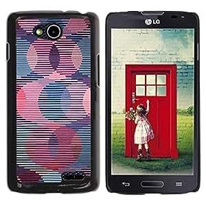Be Good Phone Accessory // Dura Cáscara cubierta Protectora Caso Carcasa Funda de Protección para LG OPTIMUS L90 / D415 // Retro Wallpaper Striped Pattern Pink