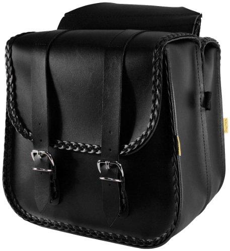 - Willie & Max Standard Braided Saddlebags Black 10.5