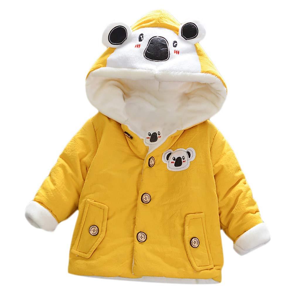 Tronet Baby Girl Boy Winter Cartoon Koala Children Coat Coat Long Sleeve Hooded Coat Tops Outfits