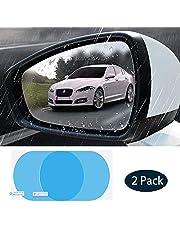 Película de espejo retrovisor para automóvil de 2 piezas, espejo de visión lateral para automóvil, película nano HD anti-niebla a prueba de lluvia, película para ventana de espejo impermeable, etiqueta, conducción segura para ventanas laterales - uso universal para todos los coches.