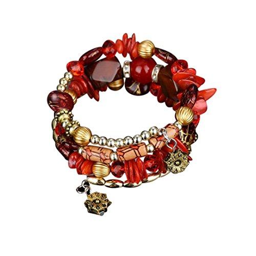 UPC 701335668391, Swyss 1PC Bohemia Colored Stone Bracelet,Latest Fashion Jewelry Exotic Ethnic Style Bracelets for Women (red)