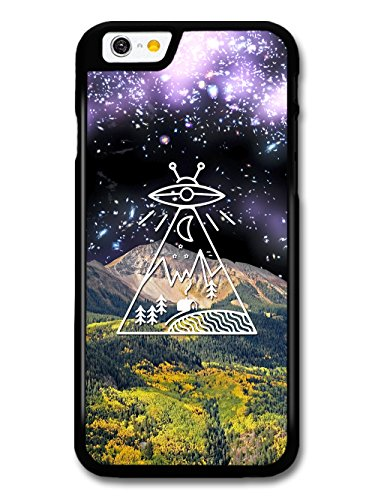 Alien Space Countryside with Mountain Collage Minimalist coque pour iPhone 6 6S
