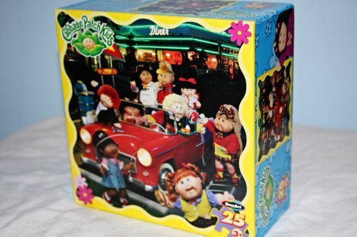Cabbage Patch Kids hanging out at a diner Drive-in in a Classic Red Car Puzzle (Cabbage Patch Puzzle)