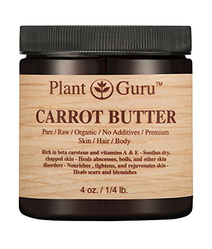 Carrot Butter - Carrot Butter 4 oz. 100% Pure Raw Fresh Natural Cold Pressed. Skin Body and Hair Moisturizer, DIY Creams, Balms, Lotions, Soaps.
