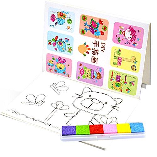 (デイリー スウィート)Daily Sweet 子供 知育 おもちゃ 画材 絵の具セット お絵かき フィンガーペイント 子供 誕生日プレゼント ランダムで発送