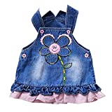 Muxika Baby Kid Girls Princess SunFlowers Sleeveless Birthday Party Cowboy Dress