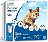 Dog Flea Treatment Collar - 3 Doses - Flea Tick Drops - CAT - ProGuard Plus (safe pet protection from pest bites infestations larvae lice mosquitoes)