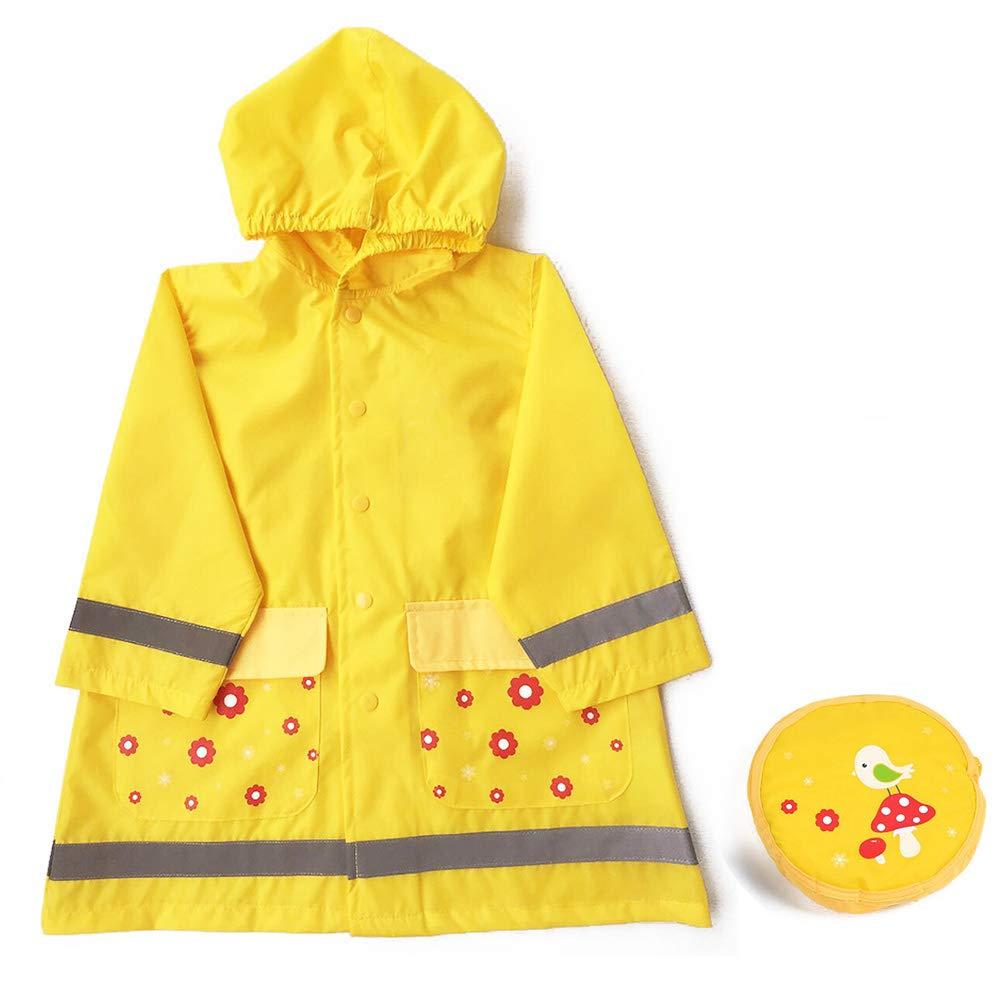Icevog Reflective Light Kids Raincoat Packable rain Poncho, Hooded