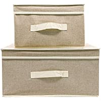 ktd Square Imitation Linen Foldable Customizable Home Storage