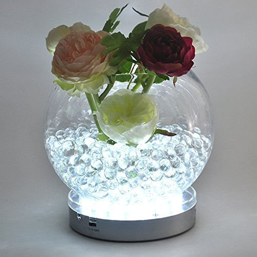 Kitosun 3aa Battery Operated 6inch Round White Led Under Vase Light