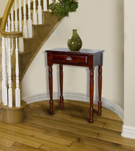 D-ART Savana Entrance Hall Table 1 Drawer in Mahogany Wood (Real Wood Living Room Furniture)