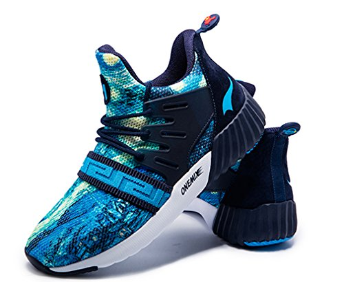 Zapatillas Running Unisex de ONEMIX Azul de Sintético Competición Material Marino Adultos de 6dnOqpxC