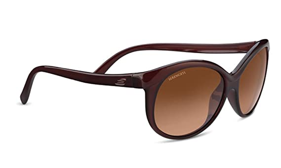 Serengeti Eyewear Erwachsene Isola Sonnenbrille, Shiny Black, Medium/Large