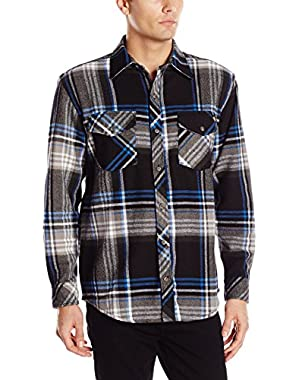 Men's Long Sleeve Brawny Flannel, Black!