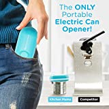 Kitchen Mama Mini Battery-Operated Can Opener: Open Your Cans with A Simple Push of Button - No Sharp Edge, Food-Safe and Mini-sized