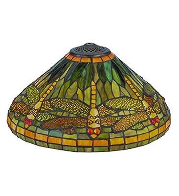 """Meyda Tiffany 10506 Dragonfly Lamp Shade, 16"""" Width"""