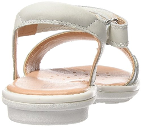 Geox Jr Sandal Milk A Sandalias, Niñas Blanco (White)