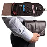 Luxurious Leather Tobacco Smoking Pipe Pouch Bag Organize Case Pipe Tool lighter Holder Pocket for 2 pipe